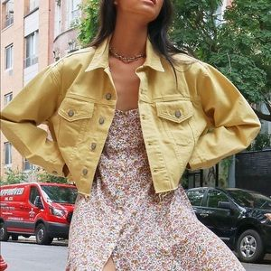 Free People Distressed Oversized Denim Jacket XS/S